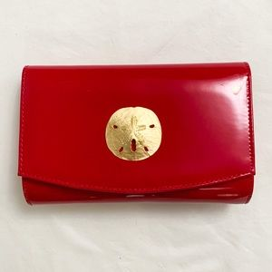 NEW Red Clutch Bag Patent leather Purse Handbag